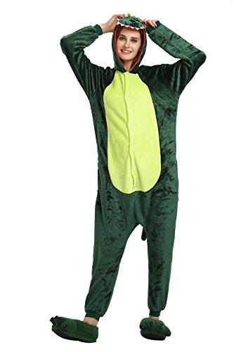 KiKa Monkey Flanella Unicorn Cartoon animali della novità di Natale Cosplay Pigiama Dinosauro verde