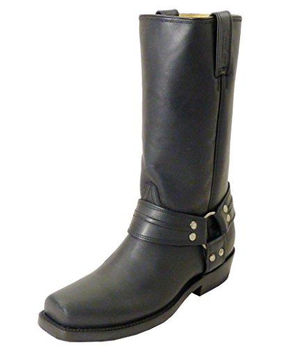 Westernwear-Shop Westernstiefel & BikerstiefelBad Beagle Cowboystiefel bzw. Cowboy Boots & Bikerstiefel Westernstiefel für Damen und Herren (48) Schwarz