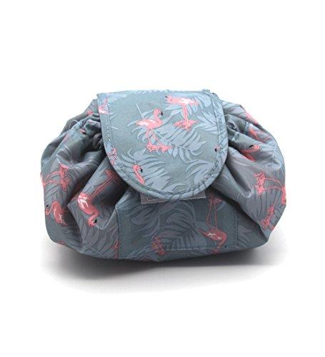 Portable Reißverschluss Make-up Tasche Lazy Kosmetische Aufbewahrungstasche Große Kapazität Reisetasche, Mode-Muster Design, Außen Wasserdicht, Quick Pack für Frauen