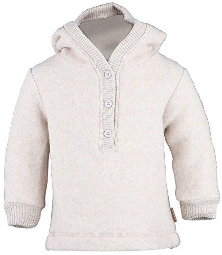 mikk-line mikk-line Unisex Baby Sweatshirt Woll-Kapuzenshirt, Beige (Melange Offwhite 429) 56