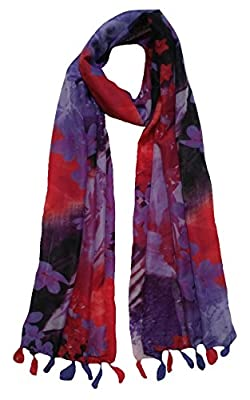 FusFus Women's Printed Trendy Stoles, Free Size(Multicolour, F0162) - Pack of 3