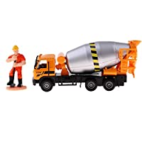 D DOLITY 1:50 Alloy Construction Car Truck Models Wheel Loader/Cement Agitating Lorry