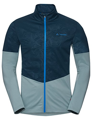 Vaude Me All Year Moab, Fahrrad Shirt Herren L Blue Elder (Winter Mountain-bike)
