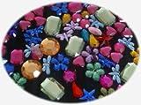 Crystals & Gems UK 120 X Mixtes Diamante Strass Gem Formes Toppers De Cartes Coller Sur Avec La Colle!