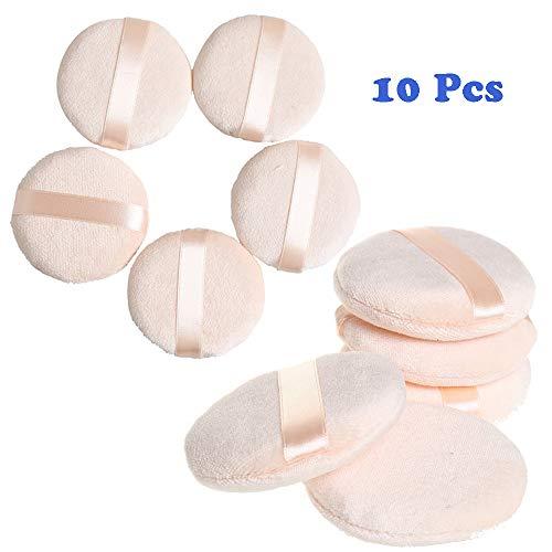 Nuluxi soffio di polvere rotondo in spugna cuscino d'aria piumini da cipria rotondo spugna piumini da cipria strumenti per il trucco perfetta per cipria fondotinta polvere cosmetica e fard