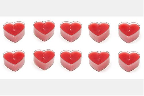 Leisure - Luces de té/Velas - forma de corazón - 10 piezas