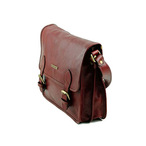Tuscany Leather - TL Postman - Borsa messenger in pelle Marrone - TL141288/1 Marrone