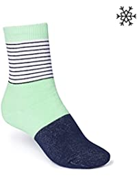ThokkThokk Triple Striped High-Top Plüsch Socken b&w/mint/midnight, Größe:M 39-42