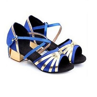 Moda Donna Sandali Sexy donna tacchi Primavera / Autunno punta aperta in cuoio / outdoor casual Stiletto Heel Lace-up blu / oro altri Blue