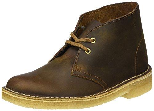 Clarks Originals Stivali Desert Boot, Donna, Marrone (Beeswax Leather), 38