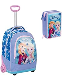 6bffaf6a94 Big Trolley Disney, FROZEN, Azzuro, 30 Lt, 2 in 1 Zaino con