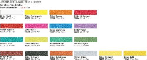 Stoffmalfarbe,Textil Glitter Pen 29 ml Glitter-Weiß