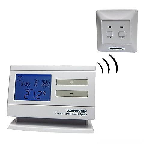 computherm Q7rf Thermostat de pièce programmable sans fil – 6 fois par jour sur 7 (7 Giorni Programma Termostato)