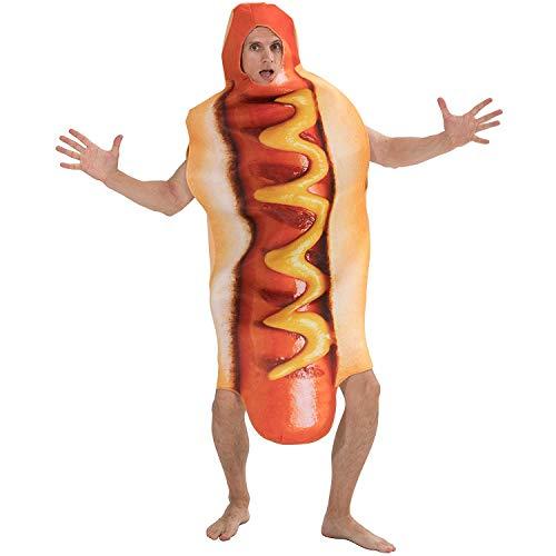 dehong Unisex Lustige 3D-Druck-Wurst-Overall Lebensmittel Hot Dog Kostüme Männer Frauen Halloween-Kostüm-Erwachsene Festival Familie Passende Abendkleid -