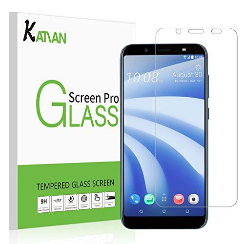 KATIAN [2-Stück] Panzerglas Schutzfolie für HTC U12 Life, 2.5D Panzerfolie 9H Gehärtetem Glass [Anti-Kratzen][Anti-Bläschen][Fingerabdruck-frei] HD Bildschirmschutzfolie mit HTC U12 Life