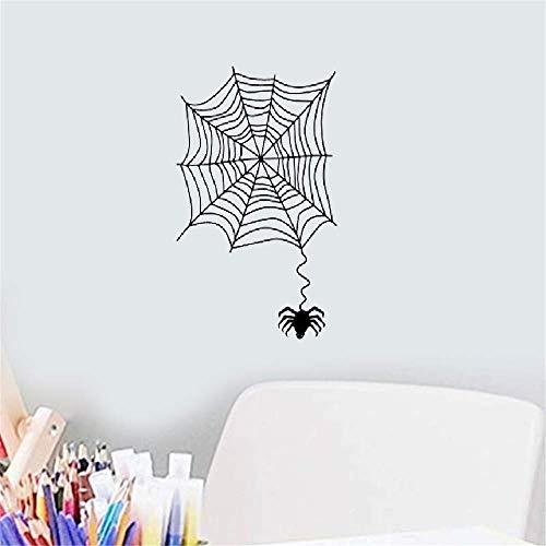 Wandaufkleber Schlafzimmer Tier ein Spinnennetz mit einer dekorativen Aufkleber-Spinne Halloween (Foto Halloween Bearbeiten)