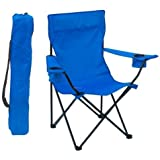 #3: Shopping Tadka (TM) Camping Chair Folding, Portable Carry Bag for Storage and Travel, Best Durable Outdoor Quad Beach Chairs, Comfortable Arms, Space Saving, Lightweight Great for Transport, Sports, Fishing and Hiking (Colour May Vary)