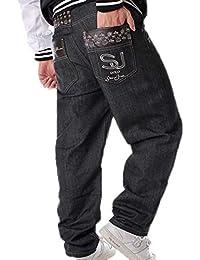 0d6905df7c1de Pantalones de Baile Callejero de Moda Estilo Hip Hop de los Hombres  Pantalones de Rap Pantalones