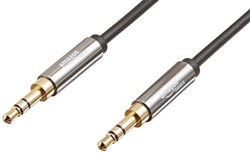 AmazonBasics - Cable de audio estéreo (conector macho de 3,5mm a conector macho de 3,5mm, 1,2 m)