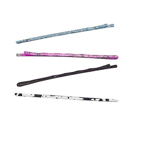 LUX Zubehör 60PC Glitzer Sparkle Bobby Pin Haar Multi Farbe Pink Blau Weiß Schwarz Clip-Set (Mädchen-multi Rock Pink)