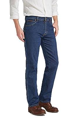 Wrangler Men's TEXAS STRETCH SAFARI KHAKI Straight Jeans
