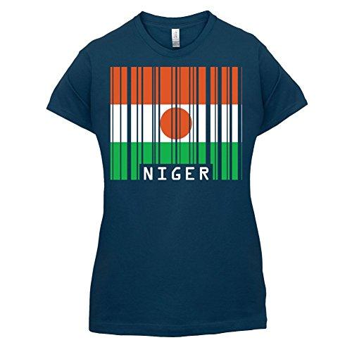 Niger / Republik Niger Barcode Flagge - Damen T-Shirt - 14 Farben Navy