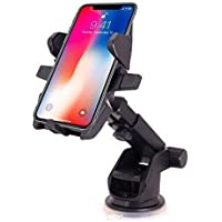 Shadow Securitronics Minimalist Adjustable Long Neck Mobile Holder for Car Tripod Stand Handfree with One Touch 360 Degree Rotating with Magnet for All Smartphones Transformer Series (GEN 1)