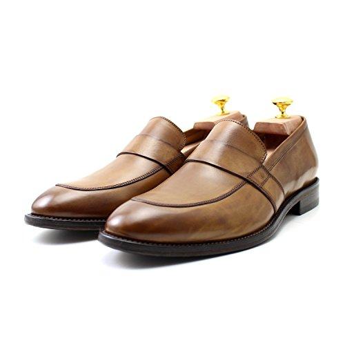 9324a050e1e9a8 ... Classique Main Marron Élégant Oxford Classic Mocassins Shoes Italiennes  Giorgio Rea Mâle Homme Cuir Chaussures YqwvHSxanT ...