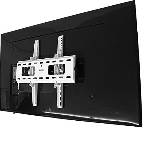 TV-Wandhalter LED/LCD/Plasma, 42-65 Zoll ✓ Massive Ausführung ✓ Mit Zubehör ✓ Stufenlos neigbar | Universal Wand-Halterung für Fernseher | Fernsehhalterung, Aufhängung nach VESA | Fernseh-Wandhalterung, Fernsehwandhalter für Samsung, LG, Philips (Tv Panasonic 42 Zoll)