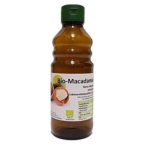 Bio Macadamia Öl, kalt gepresst, 250 ml