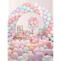 "‏‪Aoly 5 inch Pastel Latex Balloons, 200pcs 5""Assorted Macaron Candy Colored Latex Party Balloons (5 inch)‬‏"