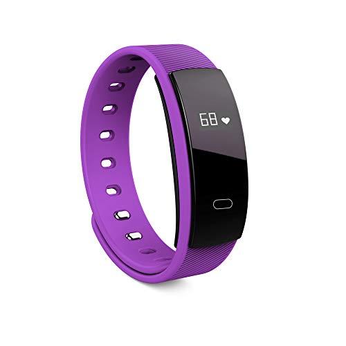 Fitness Tracker, Heart Rate Fitness Wristband Smart Watch Waterproof IP67 Activity Tracker Blutdruck Smart Armband Mit Stopwatch Sport GPS Pedometer Schritt Kalorienzahn-Frauen Männer,Purple