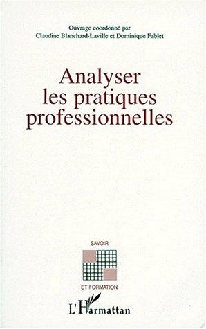 Analyser les pratiques professionnelles