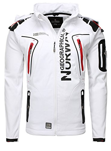 Geographical Norway Homme Outdoorjacken Capot Blanc