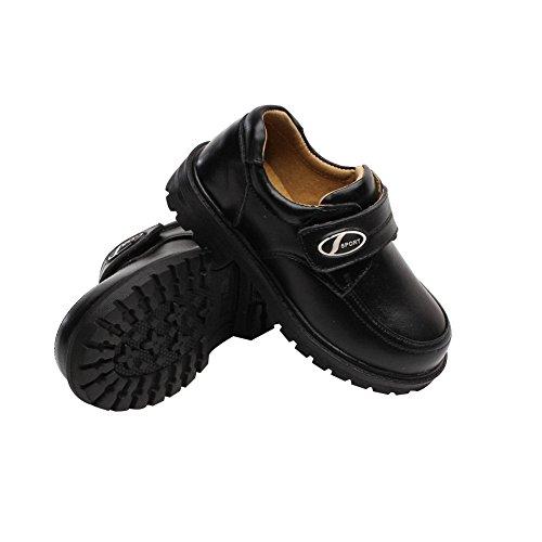 Bomkin Kinder & Jungen Leder Schuh in schwarz Schwarz