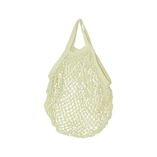 Filet à provisions - Cabas en coton Bio - 45x45cm - Ecru