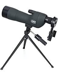 Boblov Advanced Optics impermeable ángulo Monocular zoom impermeable ámbitos telescopio monocular HD Telescopio Monocular Spotting Scopes Con trípode (Gomu 20-60x60 SE+Phone holder)