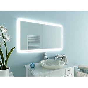 Badspiegel Sydney Mit Led Beleuchtung Badezimmerspiegel Bad Spiegel Wandspiegel   Badezimmerspiegel Beleuchtet Mit Ablage Deine Wohnideen De