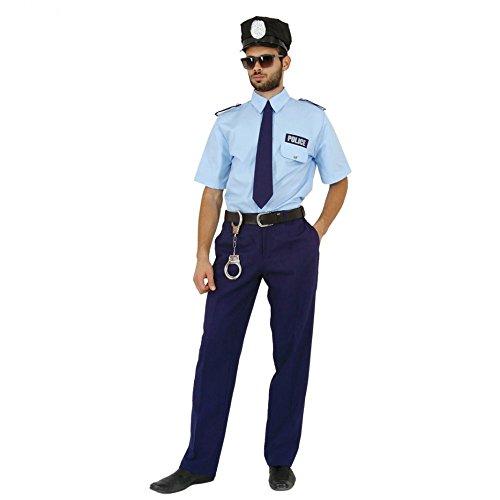 Mortino Kostüm Polizist Fred Polizei Uniform blau Fasching Polizeikostüme Berufe (L)