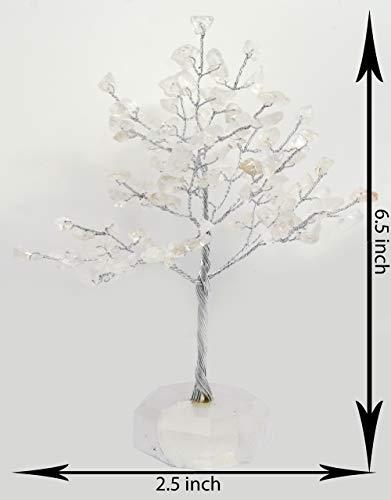 Tatvayog naturale vero gioiello alberi con gemma base (small-100perline) gemme spirituale reiki feng shui vastu tabella décor
