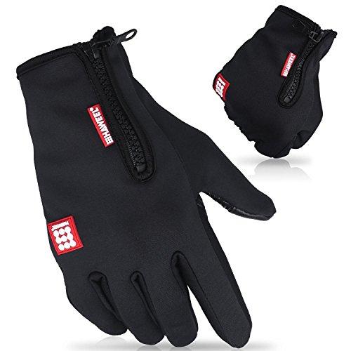 Cido Touchscreen Handschuhe Outdoor Sport Winderhandschuhe Fahrradhandschuhe Warme Handschuhe für Danmen und Herren (S)