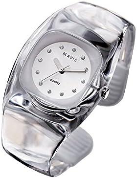 MAVIS Modische Damen Spangen-Uhr Transparent 03911014