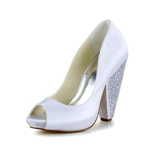 Jia Jia Wedding 2931 Scarpe Sposa Scarpe col tacco donna Bianco