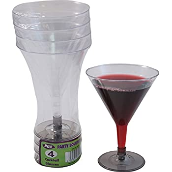 12 COCKTAIL MARTINI GLASSES - Pack of 12 quality duarable disposable glasses FREE DELIVERY
