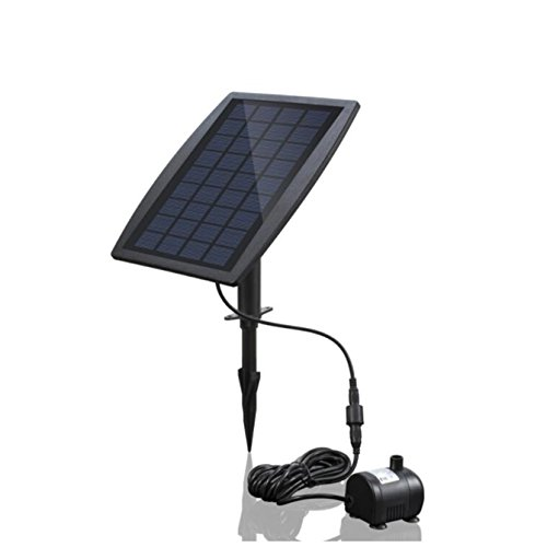 sncoto Fuente Solar Bomba de Agua 2.5W Flotante Sumergible Cascada Decoración para...