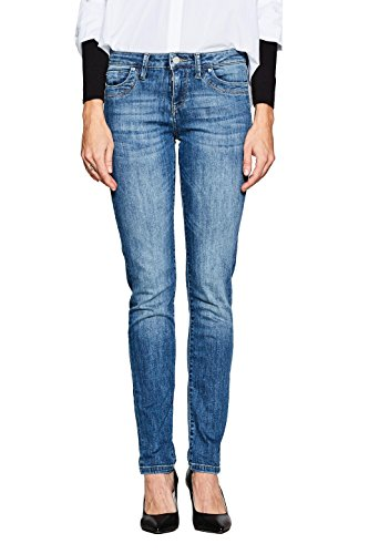 ESPRIT Damen Slim Jeans 997EE1B813, Blau (Blue Medium Wash 902), W25/L32