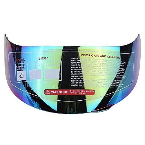 KIMISS KI6983 Casco moto visiera parabrezza obiettivo di ricambio per 316 902 AGV K5 K3SV(Green)