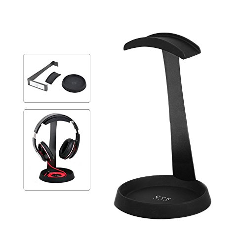 Price comparison product image CADA Headphone Stand Holder Hanger,headphone stand mount Sturdy with Space for Cable, Great for Sennheiser, Sony, Audio-Technica, Bose, Shure, AKG, Panasonic