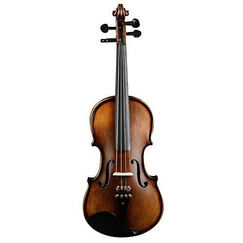 Miiliedy legno texture handmade violino principiante bambino adulto pratica giocare fiddle peerless dolce-suono strumento musicale melodioso con violino scatola arco pece panno di lucidatura