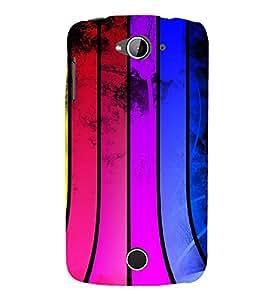 printtech Colored Pattern Streak Back Case Cover for Acer Liquid Z530